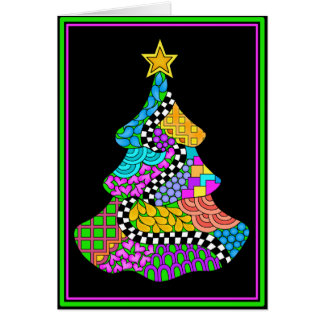 Christmas Twist Card with Black Background