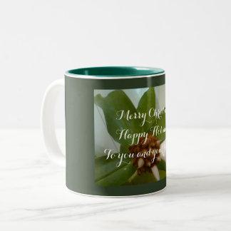 christmas two tone photo mug