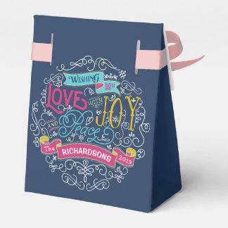 Christmas Typography Love Joy Peace Custom Banner Favor Box