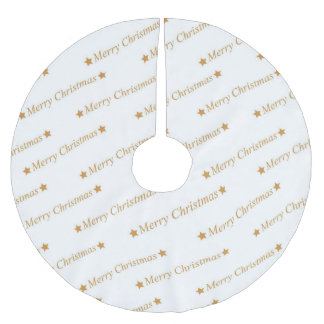 Christmas Typography Merry Christmas Pattern Brushed Polyester Tree Skirt