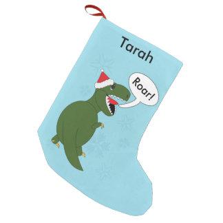 Christmas Tyrannosaurus Rex Personalize Small Christmas Stocking