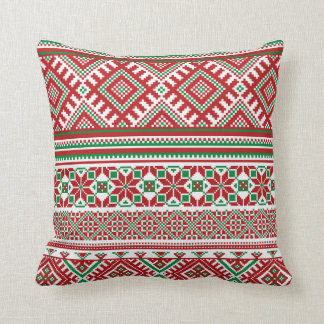 Christmas ugly sweater faux knit pillow