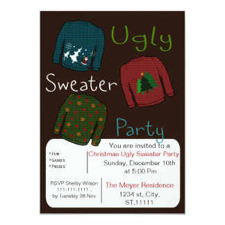 Christmas Ugly sweater Party Invites