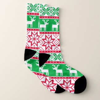 Christmas Ugly sweater pattern party socks 1