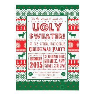Christmas - Ugly Sweater - Tacky - Invitation