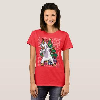 Christmas Unicorn Dabbing Around The Tree Dab T-Shirt