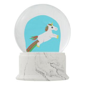 Christmas Unicorn Leaping Snow Globe