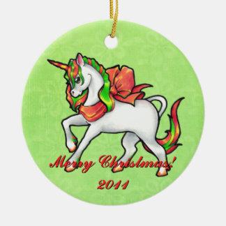 Christmas Unicorn  Ornament