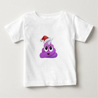 Christmas Unicorn Poop Emoji Baby T-Shirt