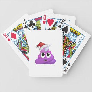 Christmas Unicorn Poop Emoji Bicycle Playing Cards