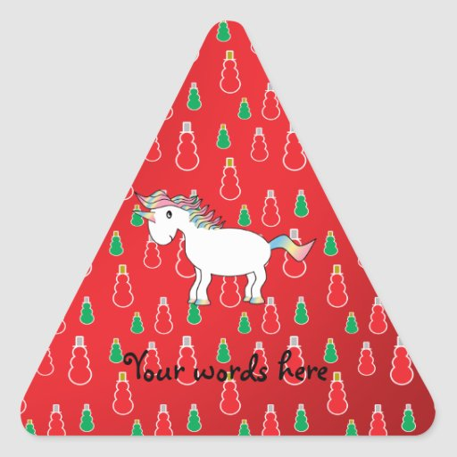 Christmas unicorn red snowman pattern sticker