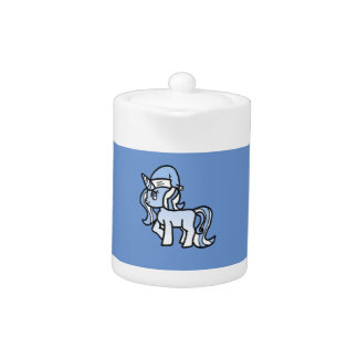 Christmas Unicorn Snow Frosted Blue
