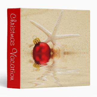 """Christmas Vacation Starfish 1.5"""" Photo Album Vinyl Binders"""
