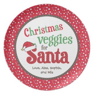 Christmas Veggies for Santa Dinner Plate