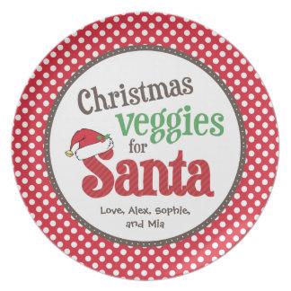 Christmas Veggies for Santa Dinner Plates