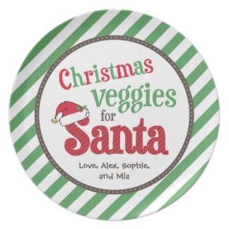 Christmas Veggies for Santa Party Plate