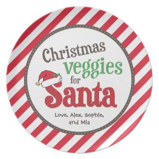 Christmas Veggies for Santa Party Plates