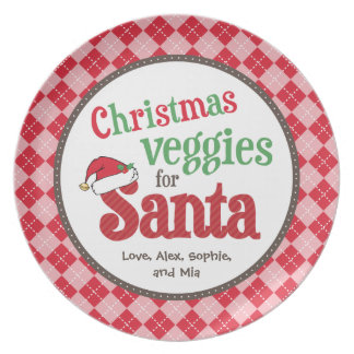 Christmas Veggies for Santa Plate