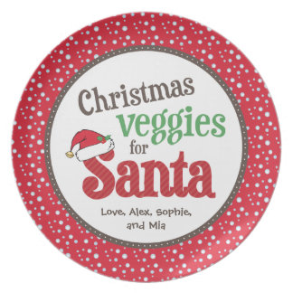 Christmas Veggies for Santa Plates
