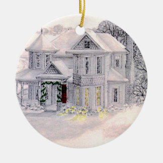Christmas Victorian House Ornament