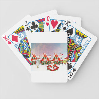 CHRISTMAS VILLAGE BICYCLE PLAYING CARDS