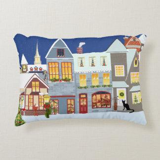 Christmas Village Decorative Pillow