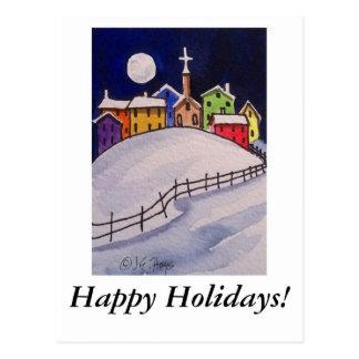 Christmas Village - Happy Holidays! Postcard