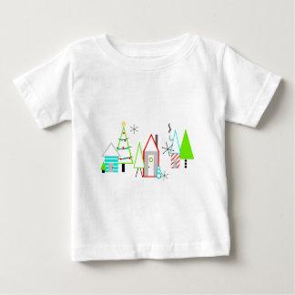 christmas village mid century modern baby T-Shirt
