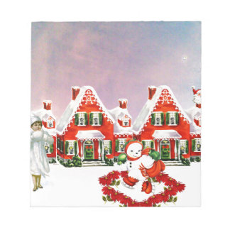 CHRISTMAS VILLAGE NOTEPAD