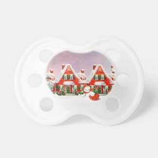 CHRISTMAS VILLAGE PACIFIERS