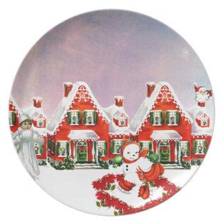 CHRISTMAS VILLAGE PLATE