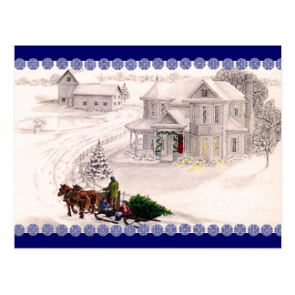 Christmas Village Postcard