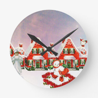 CHRISTMAS VILLAGE WALL CLOCKS