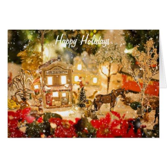 Christmas Village Winter Wonderland Greeting Card