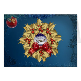 Christmas Village Wreath Card