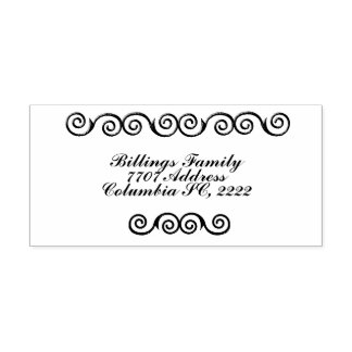 Christmas Vines Rubber Self Inking Rubber Stamp