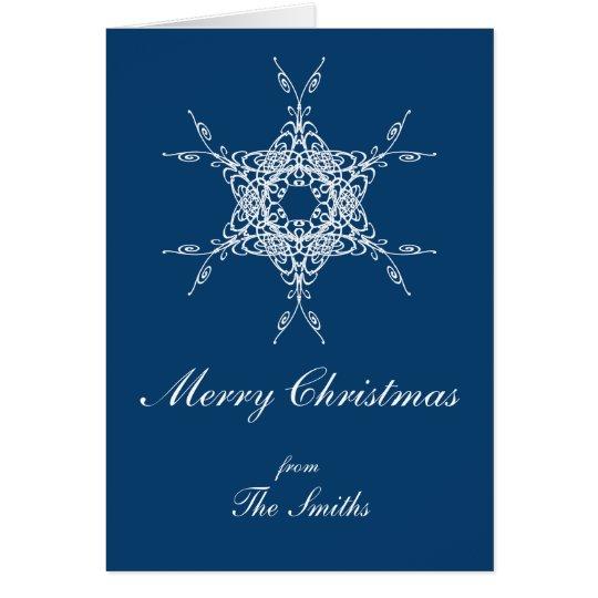Christmas | vintage floral snowflake card