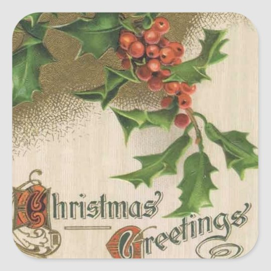 Christmas Vintage Holiday Sticker