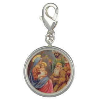 Christmas Vintage Nativity Jesus Illustration Charm
