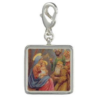 Christmas Vintage Nativity Jesus Illustration Charms