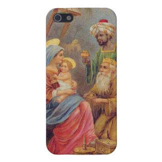 Christmas Vintage Nativity Jesus Illustration iPhone 5 Covers