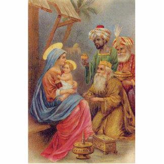 Christmas Vintage Nativity Jesus Illustration Photo Sculpture Button