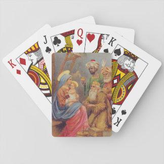 Christmas Vintage Nativity Jesus Illustration Playing Cards