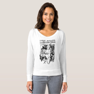 Christmas Vintage newspaper baby by tree t-shirt