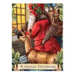 Christmas Vintage Santa postcard
