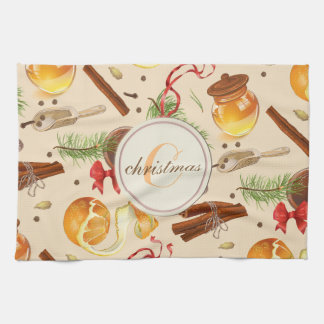 Christmas Vintage Scents Kitchen Towel