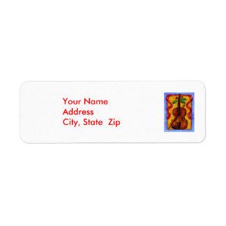 Christmas Violin - Address Labels