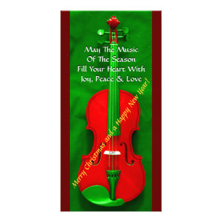 Christmas Violin Picture Card
