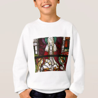 Christmas Vitrage Mother Mary and Jesus Sweatshirt