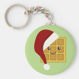 Christmas Waffle Keychain